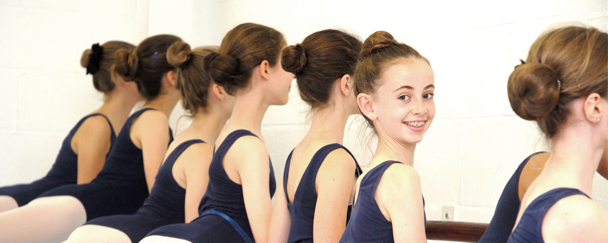A ballet class at The Vyne Dance Academy